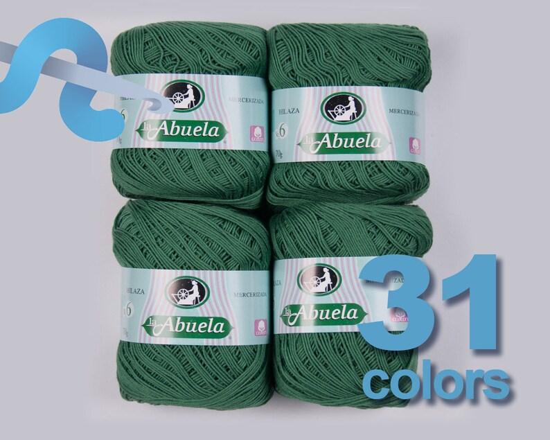 LA ABUELA No. 6 x4 Hilaza No. 6 100% Algodon Mercerizado  65d1b1dedaf8e