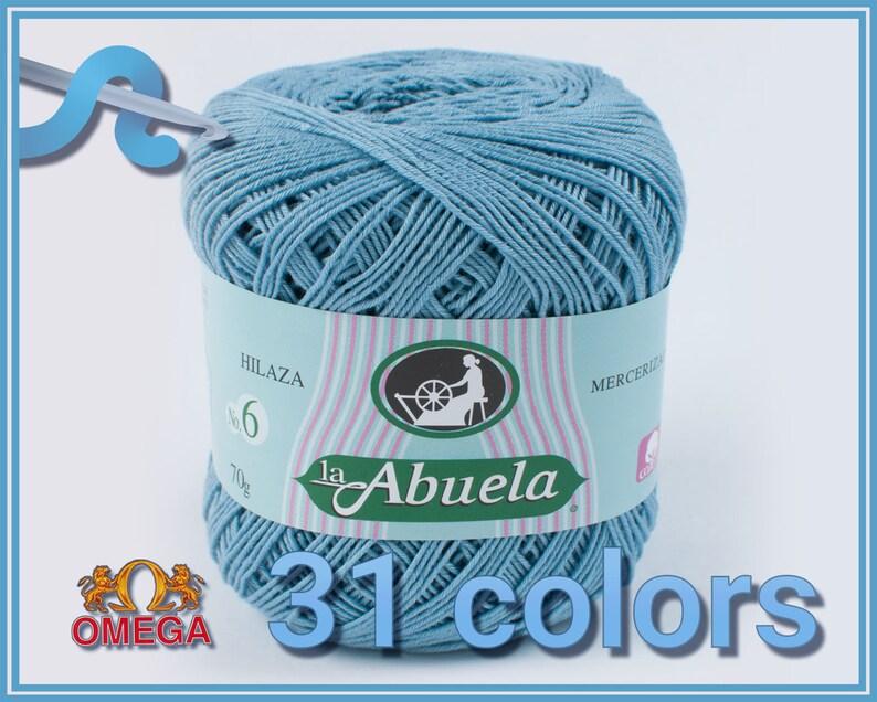 Abuela No.6 70grs  Soft 100% Mercerized Cotton Omega Yarn image 0