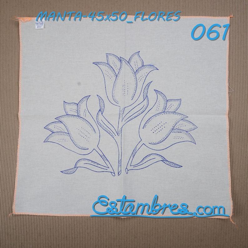 Manta Flores 45x50cm Cojin En Manta Para Bordar Flores Etsy