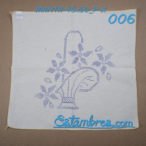 MANTA 45x50cm PUNTO CRUZ servilleta-cojin para bordar pieza | Etsy