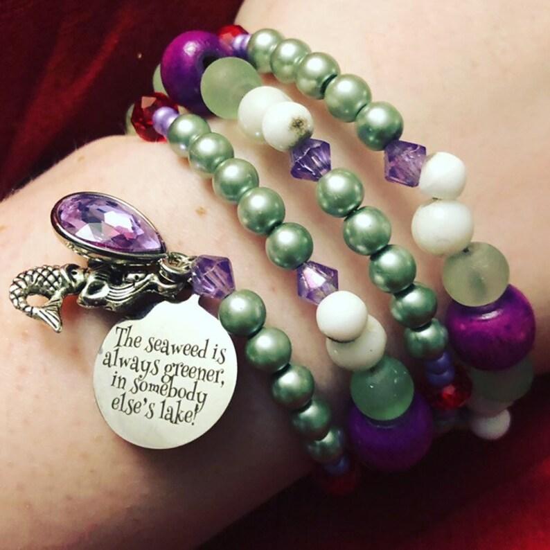 The Seaweed Is Always Greener In Somebody Else/'s Lake The Little Mermaid Bracelet