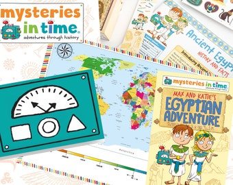 History-Inspired Time-Travelling Activity Box for Kids