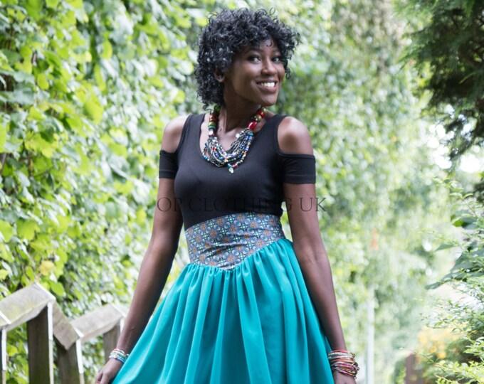 chiffon skirt, brown skirt, casual skirt, straight skirt, Long Ankara Skirt, skirt with African fabric
