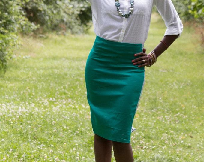 African print skirt, African skirt, Plain skirt