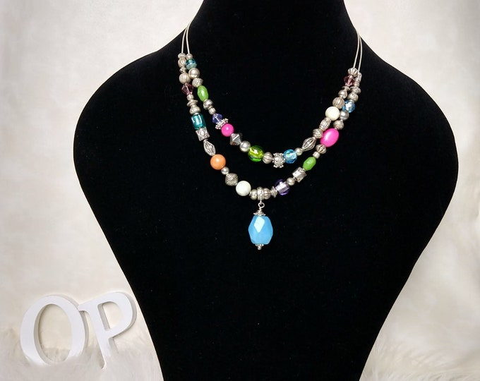 small chain beaded necklace