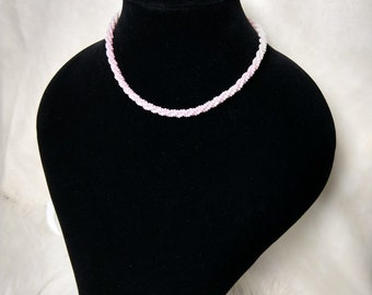 Twisted beaded necklace