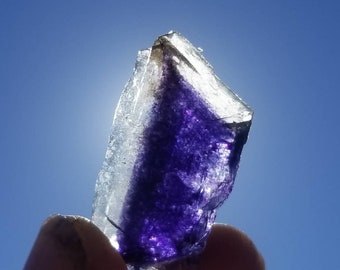 Rare Etched Termination Crystal Purple Fluorite