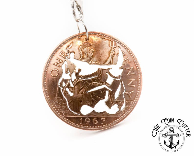 Best Star Wars Gift Ideas featured by top US Disney blogger, Marcie and the Mouse: Star Wars Charm Necklace British One Penny Coin Necklace image 0