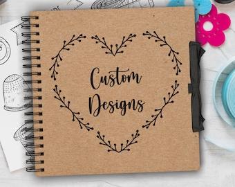 Personalised Scrapbook / Photo Album Custom Designed