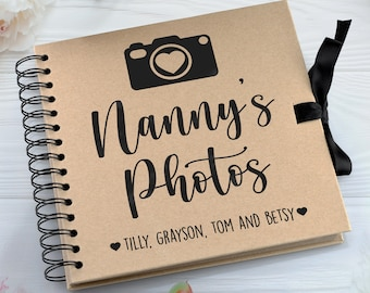 personalised photo album & scrap book for memories and adventures
