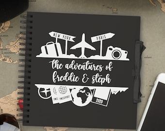 Personalised Travel, Honeymoon & Adventure scrapbook diary   photo album for your holiday memories