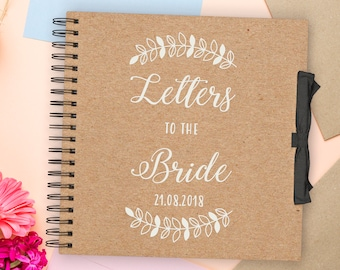 Letters to the Bride Scrapbook   Personalised   wedding   photo Album