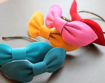 Big Bow Headband, Pink Large Bow Headpiece, Big Felt Bow, Large Colorful Bows, Adult Hair Accessories, Beach Hair Accessories,Beach Headband
