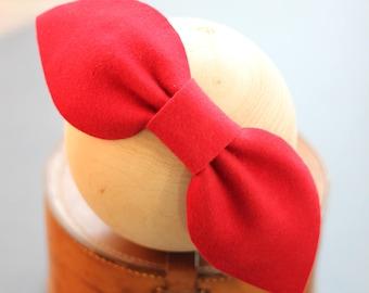 Red Bow Headband, Pink Large Felt Bow Headpiece, Big Felt Bows, Large Colorful Bows, Colorful Accessories