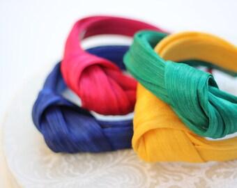 Abaca Silk Turban Headband, Women Knot Headband, Adult Head Wrap, Abaca Silk Turban Knot, Silk Knot Hairband, Adult Hair Accessories, Summer
