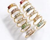 Birthstone ring Garnet Amethyst Aquamarine Diamond Emerald Moonstone Ruby Peridot Sapphire Opal Citrine Blue Zircon band,wedding engagement