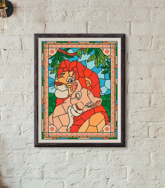 Disney Cross Stitch Pattern The Lion King In Pdf Etsy