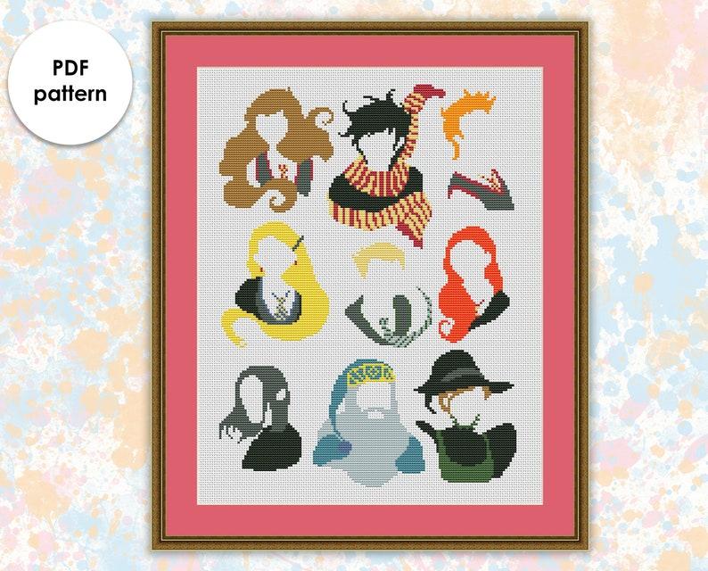 Harry Potter cross stitch pattern pdf HP009 image 0