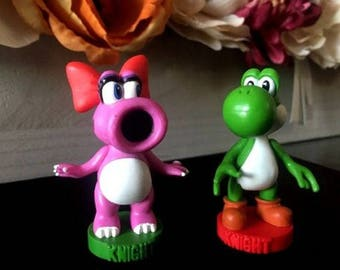 Super Mario Chess Replacement Pieces or Cake Toppers Birdo or Yoshi Knights ~ Game Tokens ~ Replacement Part and Pieces