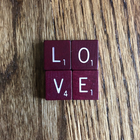 Individual Vintage Scrabble® Tiles ~ Single Letters ~ Burgundy Rounded  Corners Craft Supplies ~ Scrapbooking Anagram Game Pieces ~ Letters