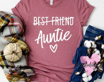 Only The Best Sisters Get Promoted to Auntie cute Baby Vest