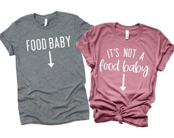 517f085b it's not a food baby shirt, Pregnancy announcement shirt, baby announcement  shirt, pregnant shirt, pregnancy shirt, funny maternity shirt