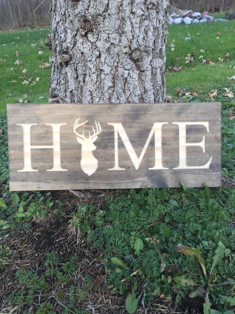 Deer Hunting Home Sign Signs