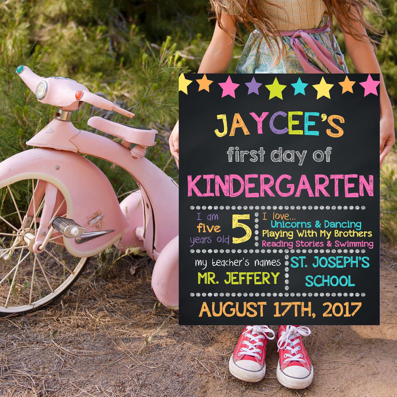 Zurück zu Schule Anzeichen Kindergarten Schilder Tafel | Etsy