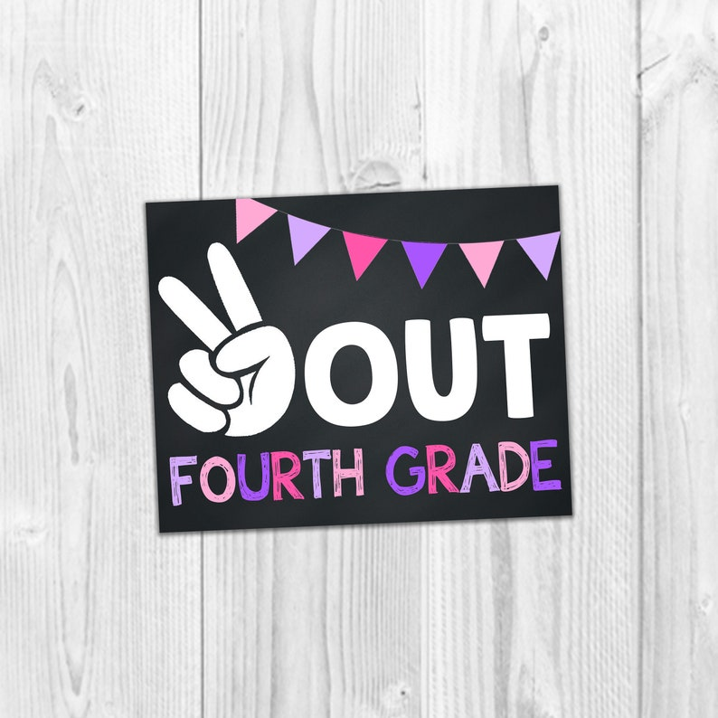 photograph about Last Day of School Signs Printable named Rest Out 4th Quality, College Signs or symptoms, Very last Working day Of College or university Indications, Quality Faculty Symptoms, Printable Photograph Prop, Little ones College Symptoms, Printable Symptoms