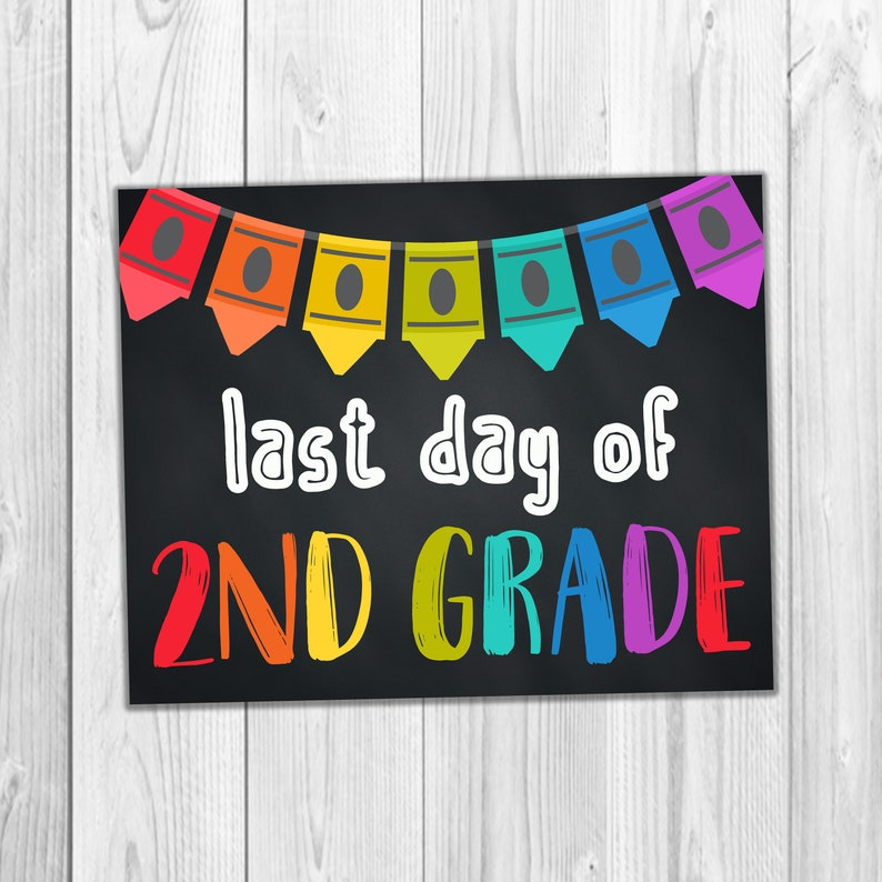 photo regarding Last Day of 2nd Grade Printable known as 2nd Quality College Signs or symptoms, Past Working day Of Faculty, Printable Faculty Indications, Quality 2 Signs or symptoms, Final Working day Of Instant Quality, Chalkboard Poster