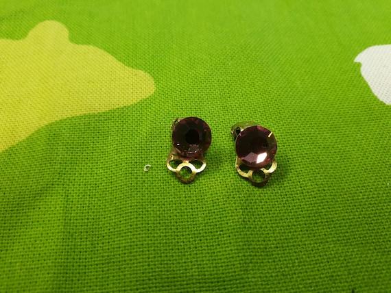Autumn Wardrobe US 7 UK N Vintage Silvertone Crystal Ring Kitsch Chic