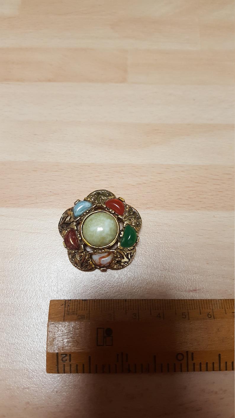 vintage celtic brooch badge retro piece scandi inspired 60s boho piece colourful summer