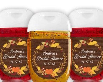 pumpkin bridal shower favor label hand sanitizer label fall bridal shower labels autumn bridal shower bridal shower sticker rustic