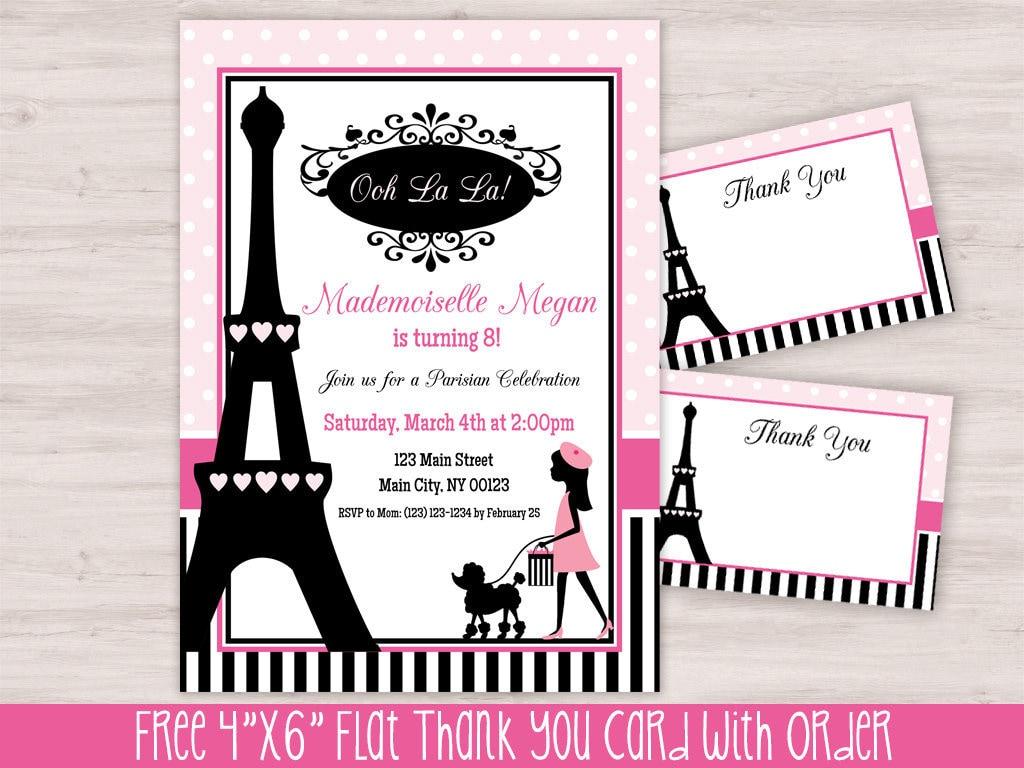 Paris themed birthday party invitations topsimages paris birthday invitation eiffel tower party invitation etsy jpg 1024x768 paris themed birthday party invitations filmwisefo