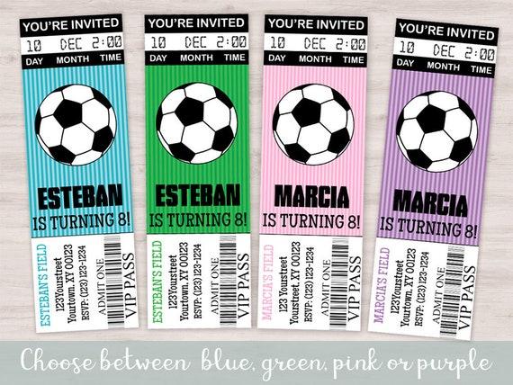 Uitnodiging Voor Voetbal Verjaardag Feestje Meisje Voetbal Etsy