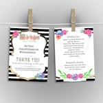 Custom Care Card / Thank You Card - stripes, home office approved
