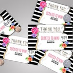 Scratch Off Card - 5 cards, fully customizable