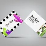 Cactus Custom Business Card - office approved fonts colors