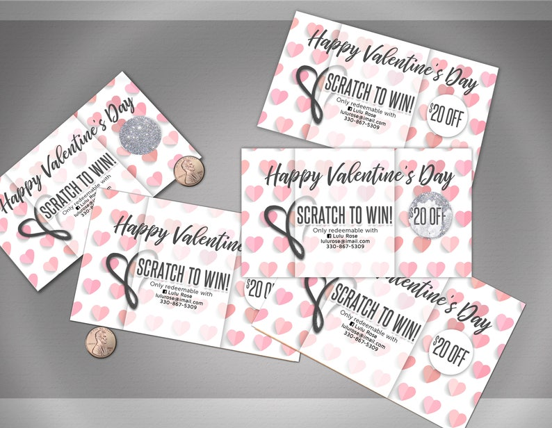 Valentine's Day / Holiday Scratch Off Card image 0