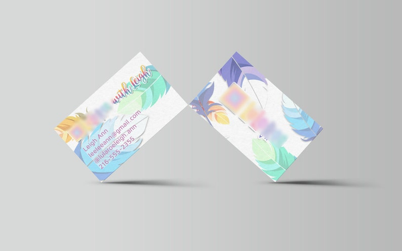 Feather Business Card  home office approved image 0