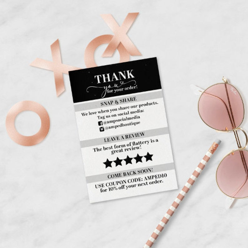 Thank You Card  Small Business Package Card image 0