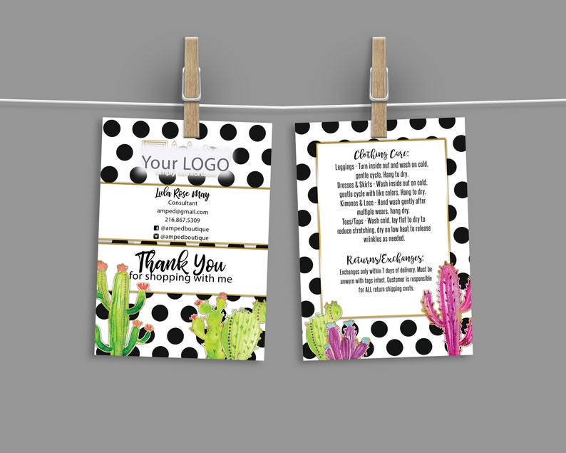 Custom Care Card / Thank You Card  stripes home office image 0
