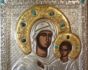 The Miraculous Virgin from Nessebar, Jesus, hand painted, Greek icon, Russian icon, Byzantine icon, orthodox icon, Christmas gift, religious
