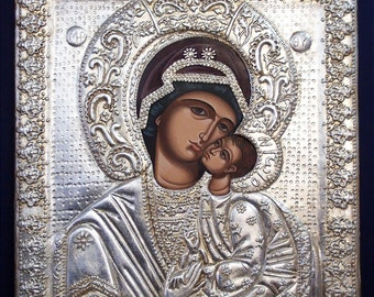The Miraculous Virgin from Bachkovo, Jesus, hand painted, Greek icon, Russian, Byzantine icon, religious gift, orthodox icon, Christmas gift