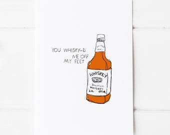 You Whisky-d Me Off My Feet Postcard