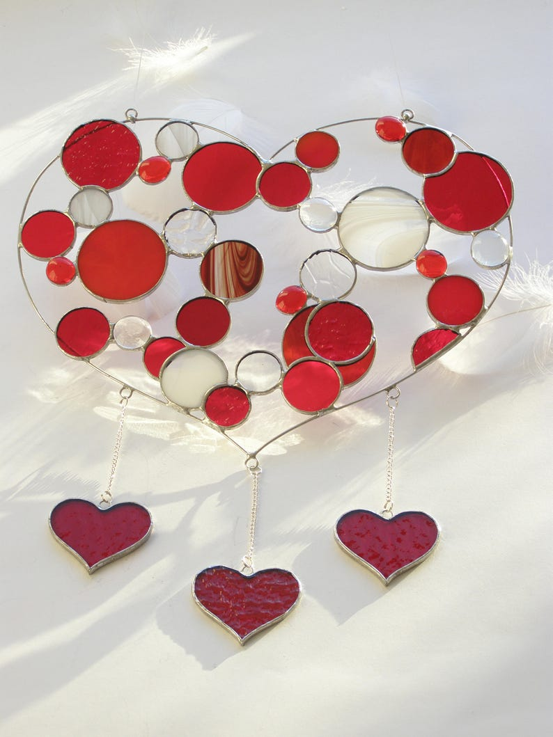 4af3ac7fdd3e Stained Glass Heart Suncatcher Valentine s Day Gift