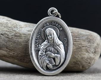 Saint Catherine of Siena Charm fits European and Brand Bracelets St Catherine Charm Saint Catherine Siena Bracelet Religious Charm