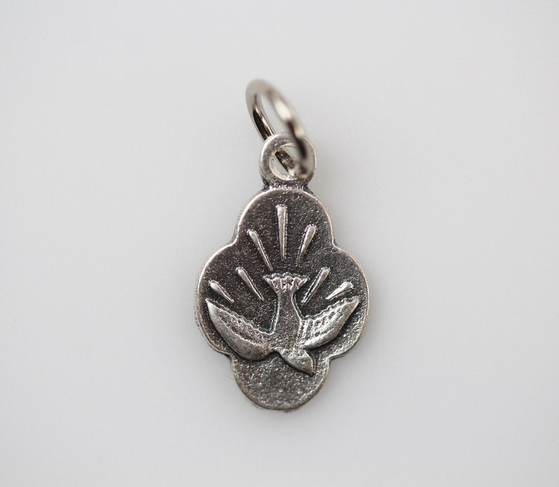 Dove Holy Spirit Silver Tone Charm  Peace Dove  Holy Ghost image 0