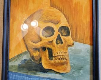 skull -orange