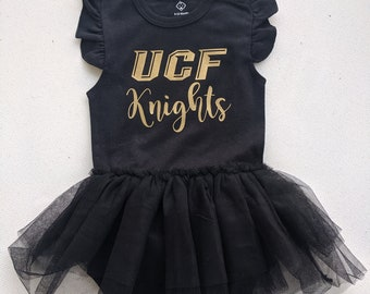 UCF Knights Baby One Piece with Tutu